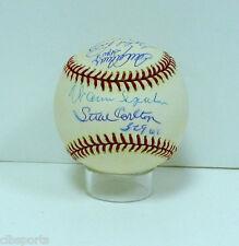 SPAHN Carlton SEAVER Perry NIEKRO Sutton signed NL Baseball 300 Wins auto MLB