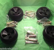 (4) John Deere Deck Wheel Kits fits 717 727 737 757 777 797 M653 M655 M665