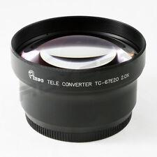 67mm 2x 2.0x Tele Conversion Lens for Canon Sony Nikon Pentax Panasonic DSLR