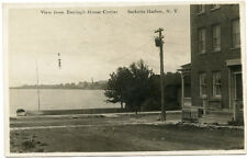RPPC NY Sackets Harbor View from Eveleigh House Corner