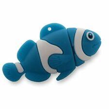 32Gb Nemo Like Blue Clown Fish USB Drive Memory Stick Flash Drive Novelty Gift