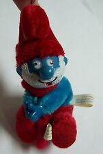 Vintage 1980 SMURF Plush Christmas Ornament