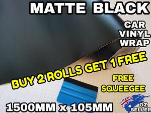 MATTE Matt BLACK Car Vinyl Wrap ROLL FILM 1500MM X 105MM Air Release sticker