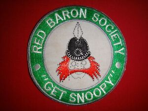 "RED BARON SOCIETY ""GET SNOOPY"" Pilot Novelty Patch"