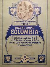 RARE 1913 COLUMBIA RECORDS DISCHI DOPPI CATALOGO GENERALE MUSIC CATALOGUE