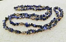 """Blue Sodalite Endless Necklace 36"""" - 201.6 cts"""