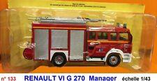 n° 133 RENAULT VI G 270 Camion Pompiers Meurthe et Moselle 54  1/43 Neuf Boite