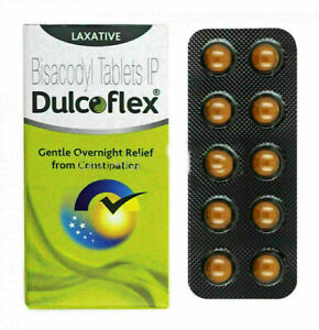 Dulcolax / Dulcoflex 100 Tablets Bisacody For Constipation Relief & Soften Stool