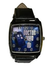 Doctor Who DW Tardis With Name Genuine Leather Band Wrist Watch