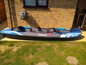 Sevylor Hudson  Inflatable 3 person Kayak Bundle