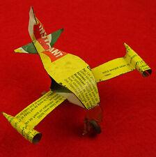 MALI DJENNE RECYCLING BLECHFLUGZEUG UPCYCLING TIN PLANE Avion en étain djenne001