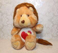 Vintage 1984 Kenner AGC Care Bears Cousins BRAVE HEART LION Brown Plush