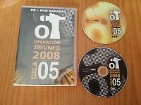 OPERACION TRIUNFO OT 2008 CD DVD KARAOKE GALA 5 - 2008 VALE MUSIC