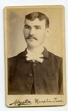 CDV Photo Man with mustache Memphis TN