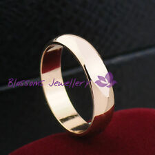 Yellow Gold Plated Band Love & Hearts Fashion Rings