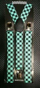 Men Women Clip on Suspender Elastic Y-Shape Adjustable Brace Solid Color Fashion