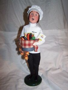 BYERS CHOICE 2011 Wegman's Chef with Box of Vegetables  New