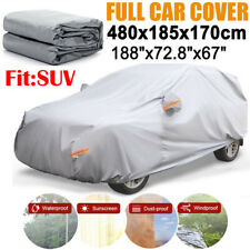 Large Full SUV Car Cover Waterproof Sun UV Snow Dust Rain Resistant Protection