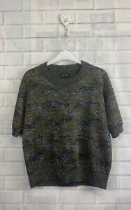 🍄 ISABEL MARANT 🍄 Metallic Camo Knit Jumper Size 36