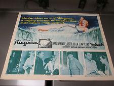 Original Vintage 1952 Marilyn Monroe NIAGARA Movie Poster 1/2 Sheet 28x22 VF+