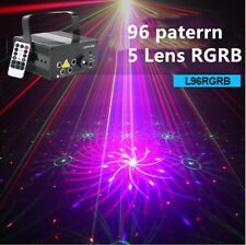 Remote 5 Lens Stage Laser Light RGB 96 Gobos Projector DJ KTV Show Event Party