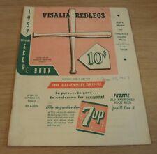 "1957 RARE 'Official' SCORE BOOK~""VISALIA REDLEGS"" Minor League BASEBALL~"
