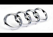 Silver Chrome Front Grille Badge Rings Logo Emblem Audi A3 A4 A5 A6 Sline 273x94
