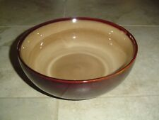 Sango Nova Brown Soup/Cereal Bowls 6.75 in. Diameter