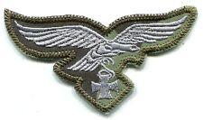 WWII German Luftwaffe Breast Eagle Iron Cross Silver on Splinter B Camo
