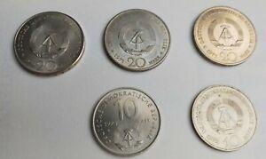 DDR Sondermünzen Konvolut 1971 -1974