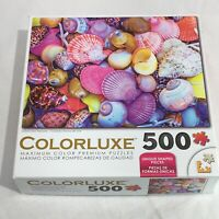 """Colorluxe Colorful Sea Treasures 500 Piece Jigsaw Puzzle  18"""" x 24"""""""