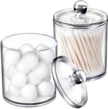 2 Pack of 15 Oz.  Dispenser Apothecary Jars Bathroom with Labels