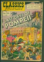 Classics Illustrated #35 Last Days of Pompeii GOOD HRN 35 1st Print