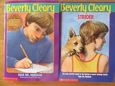 Dear Mr. Henshaw / Strider by Beverly Cleary NEW Lot of 2 Paperbacks Newbery
