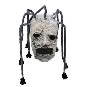 Cosplay Braid Slipknot Corey Taylor Face Mask Latex Party Halloween Costume Prop