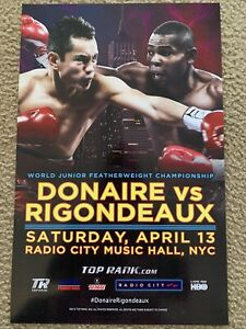 Nonito Donaire vs Guillermo Rigondeaux 2013 Official On-Site Poster Sold atFight