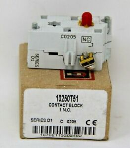 Cutler-Hammer Eaton 10250T51 Contact Block Series D1 T151 New In Box Free Ship