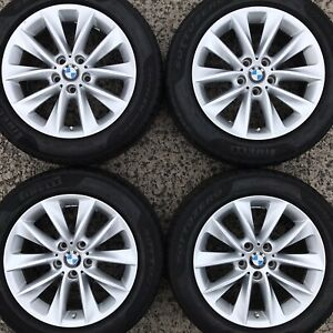 "Set Genuine BMW X3 F25 X4 F26 17"" Alloy Wheels 245 50 Winter Snow Tyres 6787578"