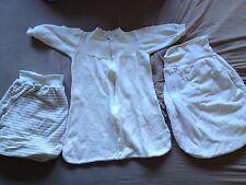 Babyschlafsack Bio Baumwolle Größe 62 und 2x Strampelsack/ Schlafsack Hess Natur