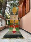 "Boujad Moroccan Handmade Vintage Runner 2'4""x11'3"" Geometric Colorful Rug"