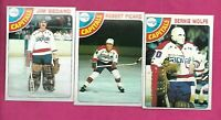 1978-79 TOPPS CAPITALS BEDARD RC + PICARD RC + WOLFE  NRMT+  (INV# C1704)