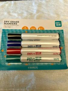 NEW IN PACKAGE PEN GEAR DRY ERASE MAKERS SET OF 4 MARKERS