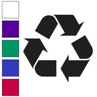 Recycling Symbol Recycle Decal Sticker Choose Color + Size #567