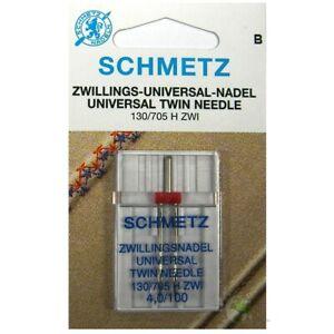 Nähmaschinennadeln, Universal Zwillingsnadel -  4,0 / 100, Inhalt: 1 Stück