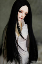 1/3 8-9-10 Pullip Bjd Doll Hair Wig Raven Black Long Special Roll Layer Skill Ks