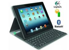 Logitech Solar /   ICEBLUE  Tastatur Folio cover Apple iPad 2/3/4 Bluetooth