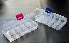 Pequeña Caja de Almacenamiento Compartimiento 10 de plástico transparente con tapa para coser abalorios, etc.