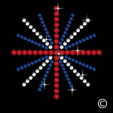 Swirl Spray Rhinestone Iron On Hotfix Crystal Diamante T Shirt Motif Patch Gem