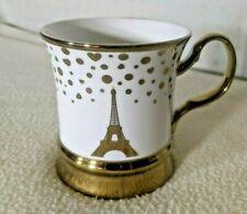 Eiffel Tower 10 Strawberry Street Ceramic w/ Gold Trim Coffee  Mug Cup