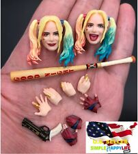 1/12 Harley Quinn head Suicide Squad w/ baseball bat for Phicen T01A Pale ❶USA❶